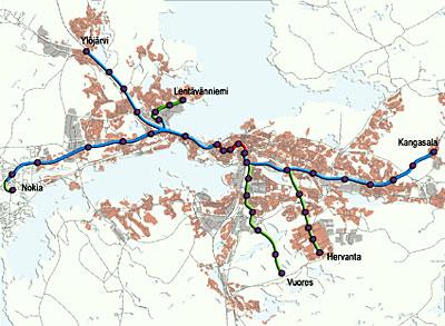 Reittikartta Tampere